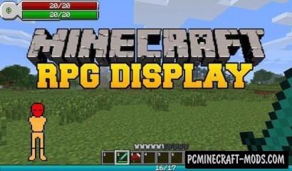 RPG-Hud Mod For Minecraft 1.11, 1.7.10, 1.7.2, 1.6.2