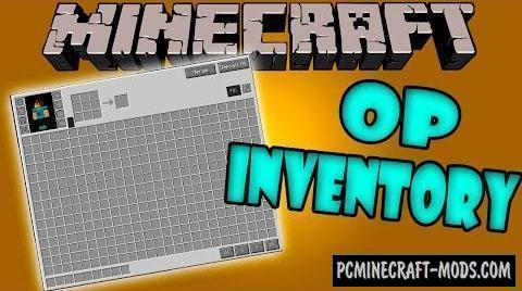 Overpowered Inventory - GUI Mod For MC 1.12.2, 1.8.9, 1.7.10