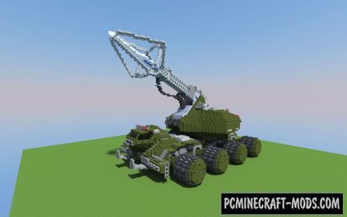 Type-92 Maser Beam Tank - 3D Art Map For MC