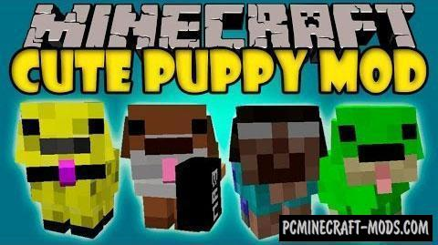 Cute Puppy Mod For Minecraft 1.12.2, 1.10.2, 1.7.10