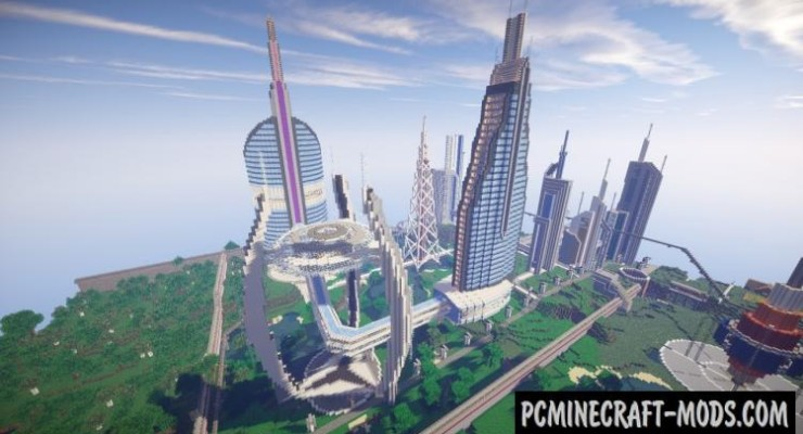 Future CITY 2.1 Map For Minecraft