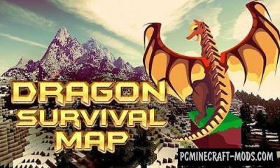 Dragon Survival  Map For Minecraft