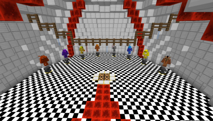 FIVE NIGHTS at ME Map For Minecraft