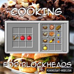 Cooking for Blockheads Mod For Minecraft 1.12.2, 1.11.2, 1.10.2, 1.8.9