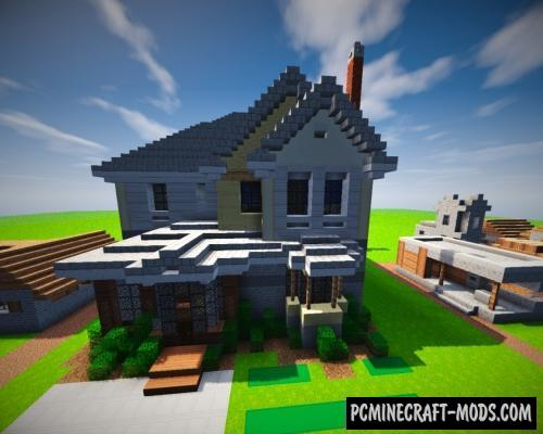 Suburban House Map For Minecraft PC Java Mods Addons - Minecraft house map