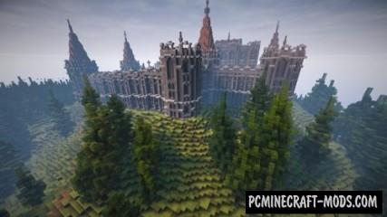 Abandoned Medieval Castle Map For Minecraft