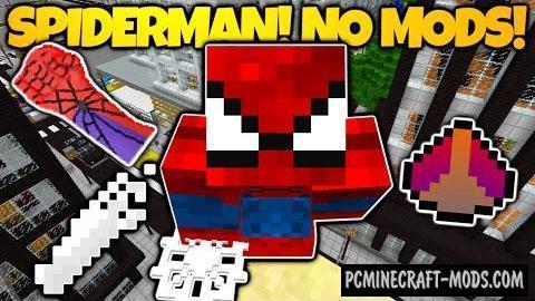 Spiderman - Command Blocks Map For Minecraft
