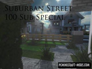 Suburban Street Map For Minecraft
