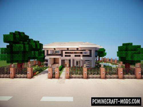 Modern House Map For Minecraft 1 15, 1 14 4 | PC Java Mods