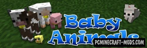 Baby Animals Mod For Minecraft 1.14.4, 1.13.2, 1.12.2