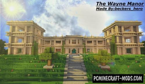 The Wayne Manor Map For Minecraft 1.13.1, 1.12.2 | PC Java Mods & Addons
