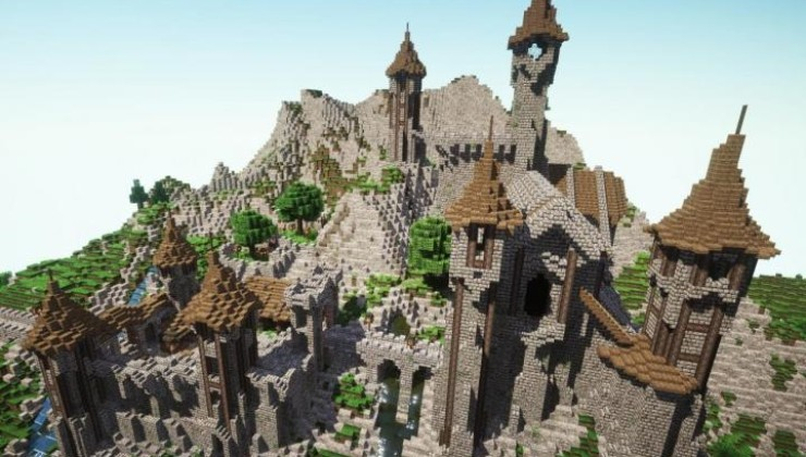 Epic Medieval Castle Map For Minecraft 1 15, 1 14 4 | PC