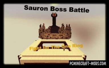 LoTR Sauron Boss Battle Map For Minecraft