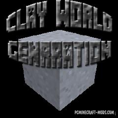 Clay WorldGen Mod For Minecraft 1.11, 1.10.2, 1.9.4, 1.7.10