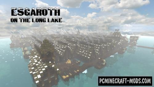 Esgaroth - A Lord of the Rings Build Map For Minecraft