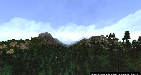 2K Realistic Custom Terrain Map For Minecraft