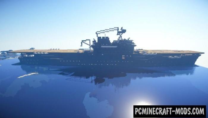 USS Enterprise - 3D Art Map For Minecraft