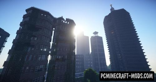 Open World Zombie Apocalypse Map For Minecraft 1.13.1, 1.12.2 | PC ...