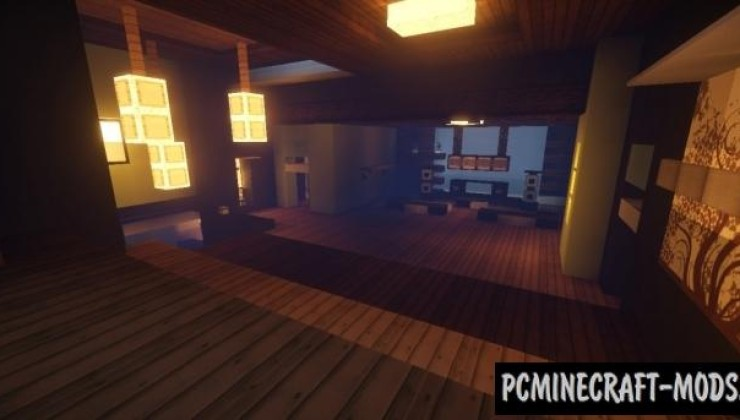 Mountain modern house Map For Minecraft