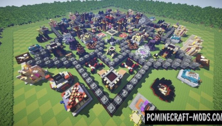 Clash of Clans - Town Map For Minecraft