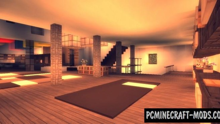Maison Moderne Map For Minecraft 1.14.4, 1.14.3 | PC Java Mods
