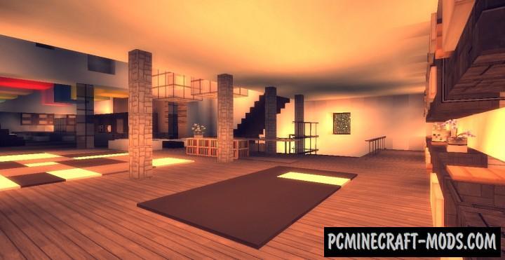 maison moderne map for minecraft pc java mods addons. Black Bedroom Furniture Sets. Home Design Ideas