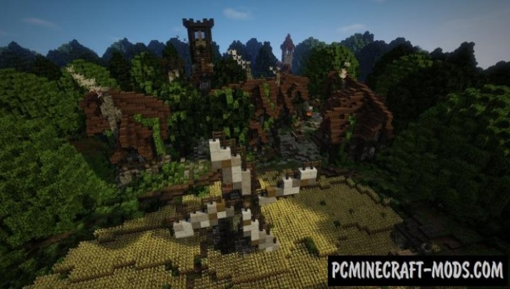 Epic Medieval Village - Town Map For Minecraft