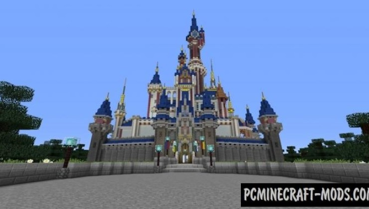 Disney Castle Hybrid Map For Minecraft