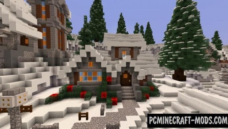 Minecraft Christmas.Twisted Christmas Map For Minecraft 1 15 1 14 4 Pc Java Mods
