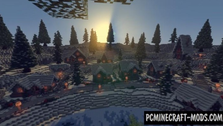 Twisted Christmas - Town Map For Minecraft