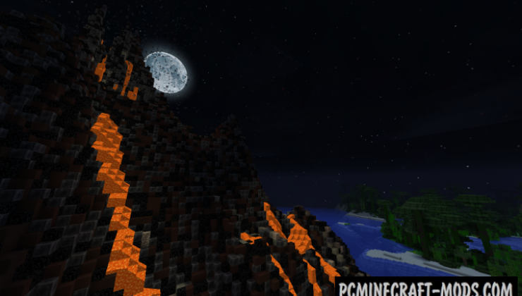 Tropical volcano Map For Minecraft