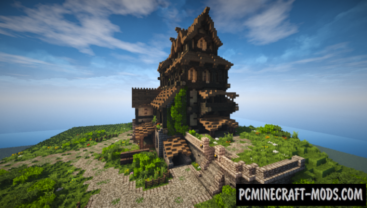 Medieval House - Skyrim Inspiration Map For Minecraft