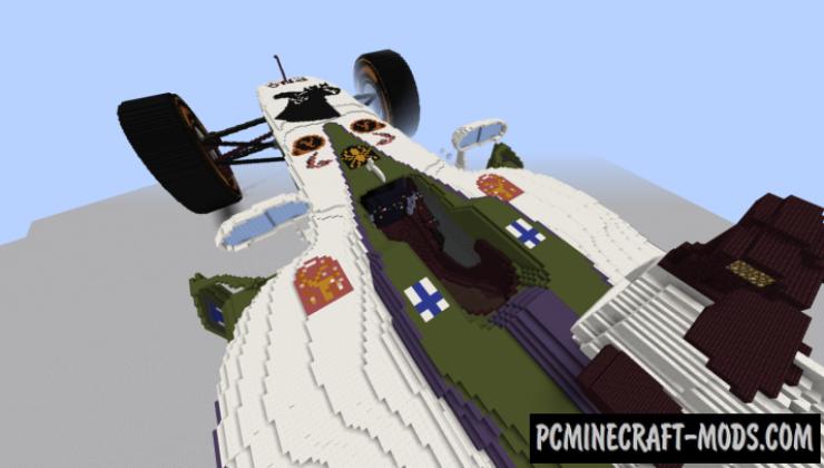 Team Kaapo F1 car - Art Map For Minecraft