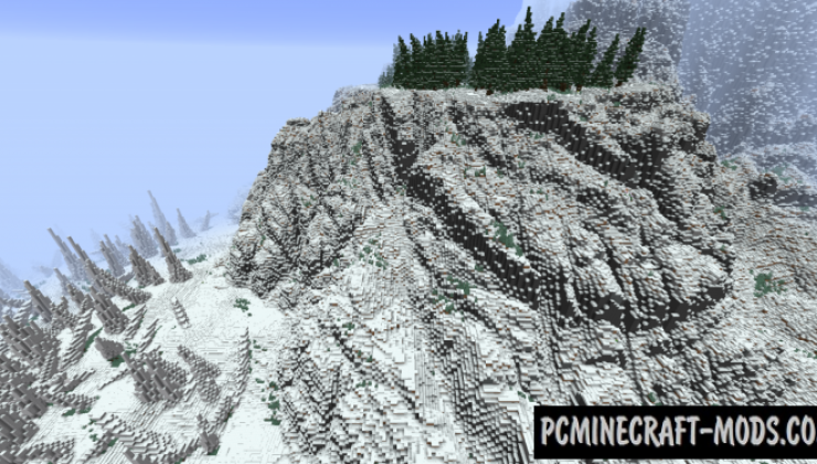 The Cold Cliffs of Calcratezz Map For Minecraft