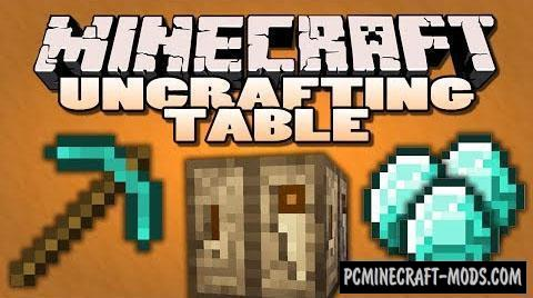 Uncrafting Table Mod For Minecraft 1.12.2, 1.11.2, 1.10.2, 1.7.10