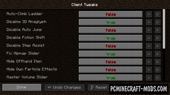 Client Tweaks Mod For Minecraft 1 12 2, 1 11 2, 1 10 2 | PC