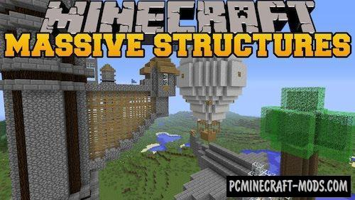 Instant Massive Structures Mod For Minecraft 1.10.2, 1.9, 1.8, 1.7.10