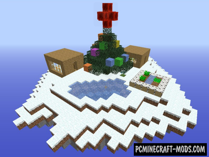 Air island - Puzzle, Survival Map For Minecraft