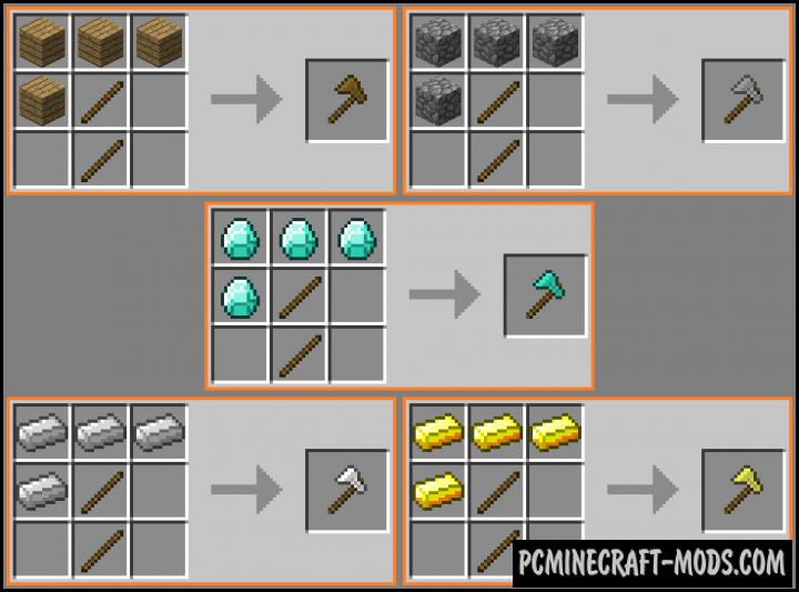 Carpenter's Axe Mod For Minecraft 1.10.2, 1.10, 1.9.4