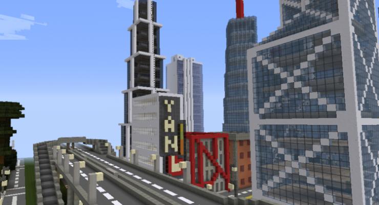 карта для майнкрафт 1.7.2 большлй город #8