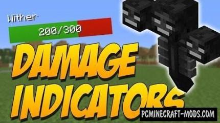 Damage Indicators by ToroCraft - HUD Mod For Minecraft 1.14.4, 1.12.2