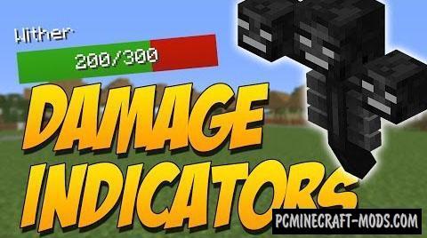 Damage Indicators by ToroCraft - HUD Mod MC 1.16.3, 1.15.2, 1.14.4
