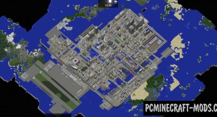 майнкрафт 1.8.3 карты городов #7