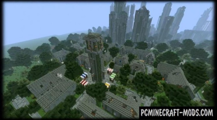minecraft pe abandoned city map download
