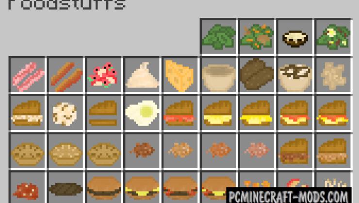 Bird's Foods Mod For Minecraft 1.12.2, 1.10.2, 1.9.4, 1.8.9
