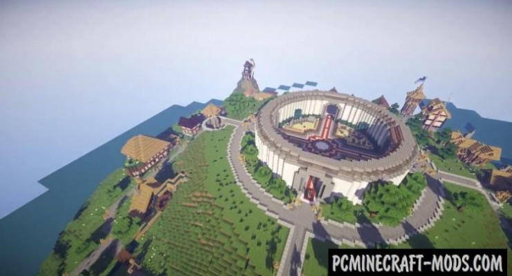 Spawn Island - Medieval Map For Minecraft