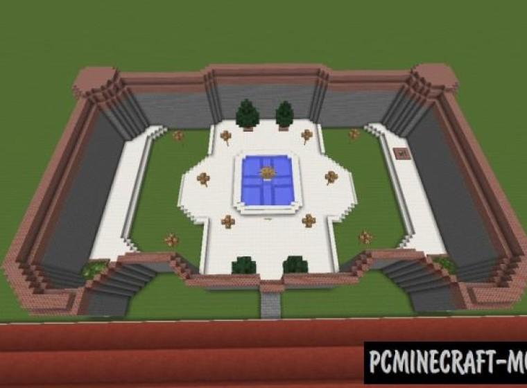 Princess Peach's Castle Map For Minecraft