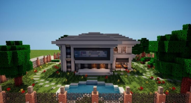 Modern House Map For Minecraft 1122 1121 PC Java Mods Addons