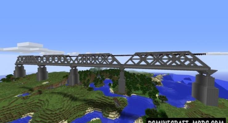 Railroad Bridge Map For Minecraft 1 15 1 14 4 Pc Java Mods