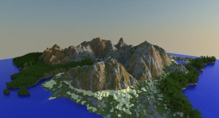 Ultra Realistic Minecraft Terrain Map For Minecraft